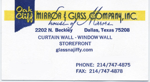 Oak Cliff Glass & Mirror Co Inc Home Page